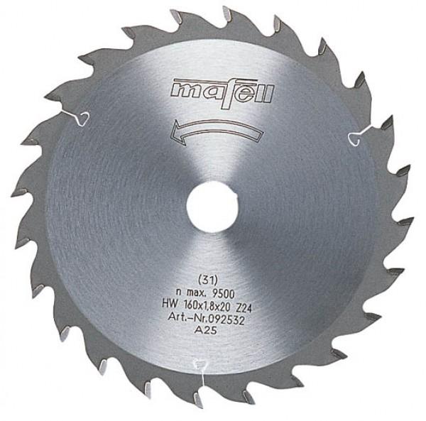MAFELL Pilový kotouč-HM, 160 x 1,2/1,8 x 20 mm, Z 24, WZ