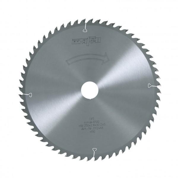MAFELL Pilový kotouč-HM, 250 x 2,8/3,2 x 30 mm, Z 60, WZ, pro Feinschnitte